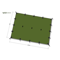 DD HAMMOCKS DD TARP XL 4.5M x 3M, GREEN,