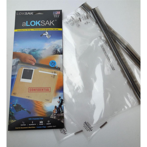 ALOKSAK ALOKSAK WATEPROOF BAG MULTI PACKS SIZE 13x11 (2PACK)