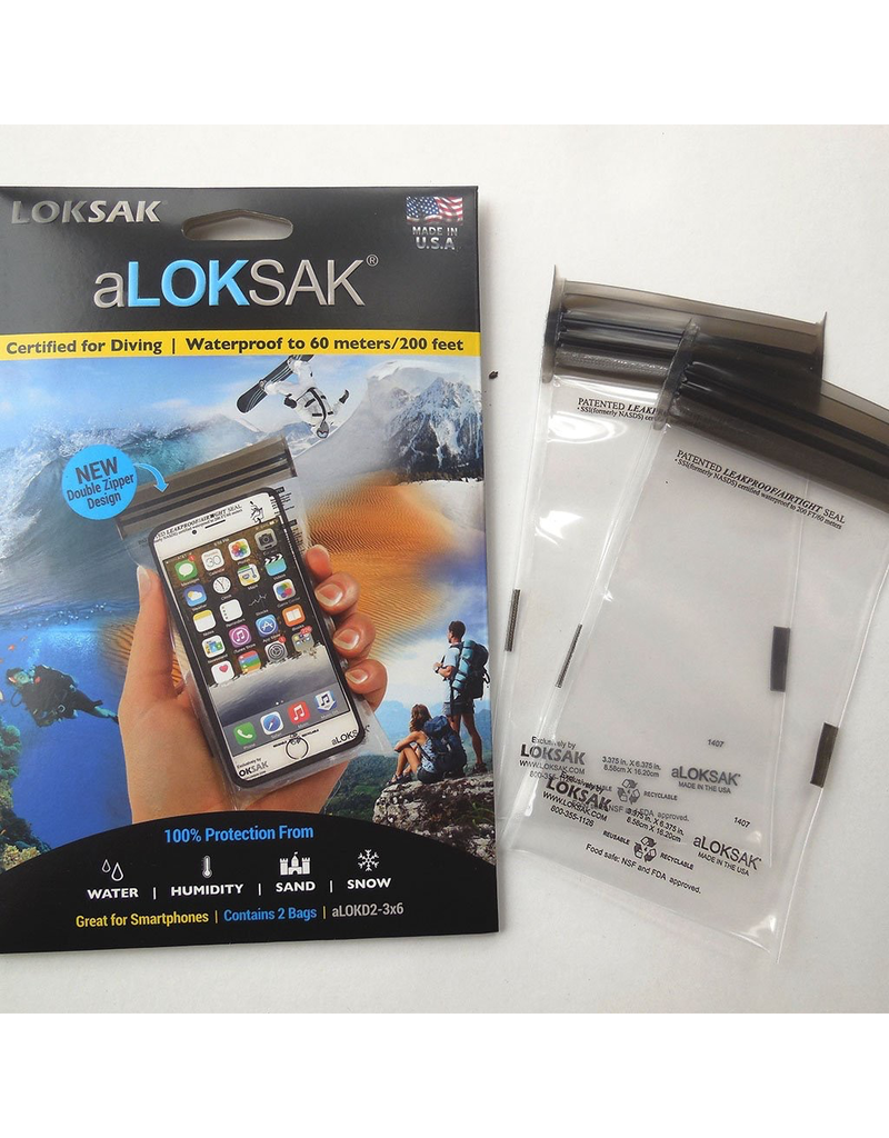 ALOKSAK ALOKSAK WATEPROOF BAG MULTI PACKS SIZE 9x6 (2PACK)