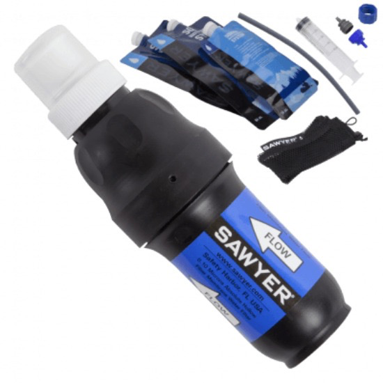SAWYER SAWYER® SQUEEZE WATER FILTER SYSTEM with 3 POUCHES