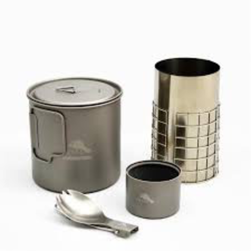 Toaks Titanium TOAKS TITANIUM ALCOHOL COOK SYSTEM WITH 650ML POT