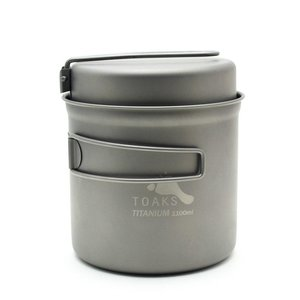 Toaks Titanium TOAKS TITANIUM POT WITH FRYPAN 1100ML