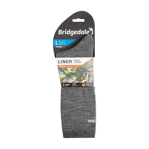 BRIDGEDALE BRIDGEDALE THERMAL LINER (TWO PACK), GREY, MD