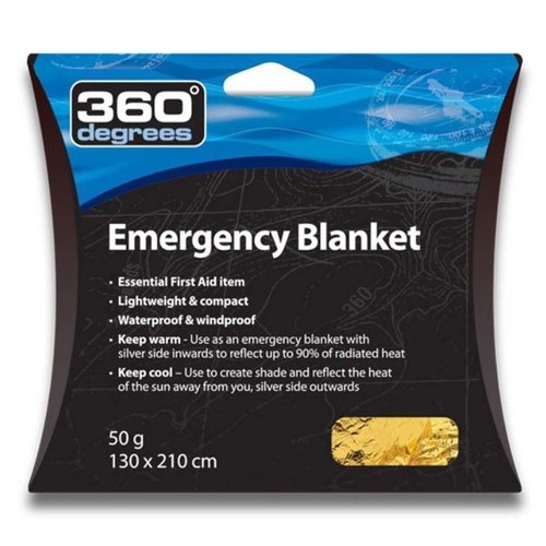 360 DEGREES 360 DEGREES EMERGENCY BLANKET