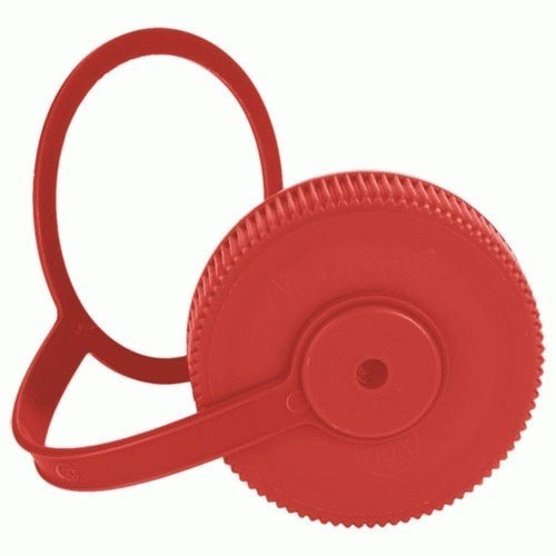 Nalgene NALGENE WIDE MOUTH REPLACEMENT LOOP-TOP-CAP 63MM, RED