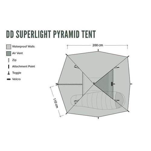 DD HAMMOCKS DD HAMMOCKS SUPERLIGHT PYRAMID TENT