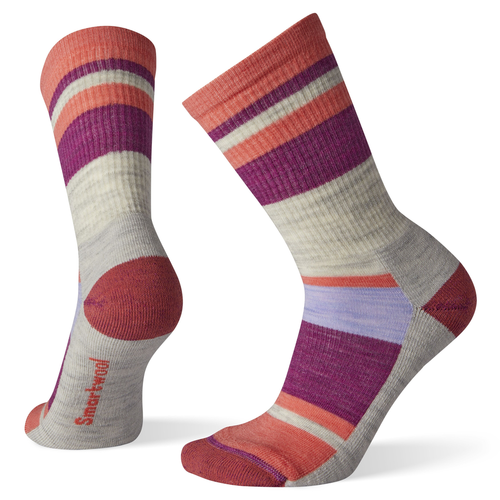 Smartwool SMARTWOOL HIKE LIGHT STRIPED CREW SOCK WOMEN'S