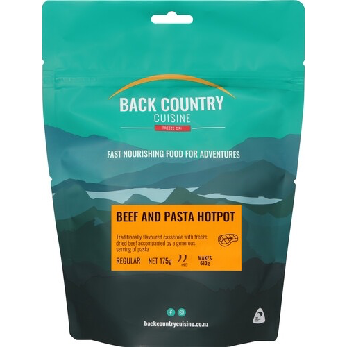BACKCOUNTRY BACKCOUNTRY BEEF AND PASTA HOTPOT (REGULAR)