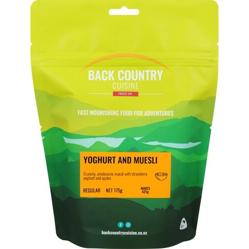 BACKCOUNTRY BACKCOUNTRY YOGHURT AND MUESLI (REGULAR)