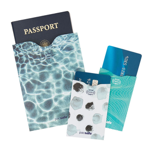 PACSAFE PACSAFE RFID SLEEVE PASSPORT AND CARD 1 + 2 TRAVEL PACK