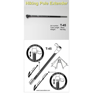LUXE LUXE ALLOY HIKING POLE EXTENDER
