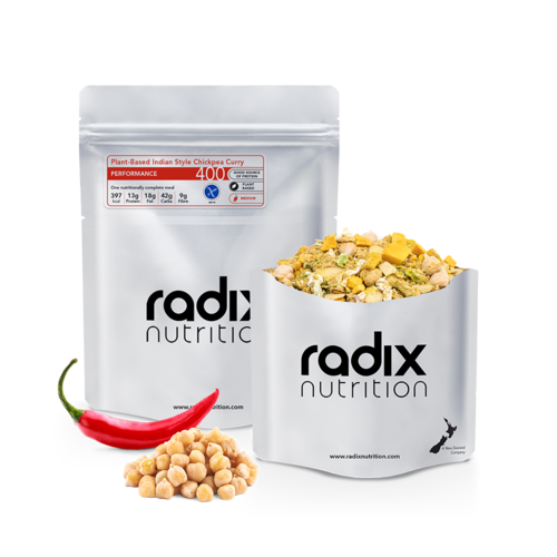 RADIX NUTRITION RADIX NUTRITION PERFORMANCE 400 PLANT-BASED INDIAN STYLE CHICKPEA CURRY