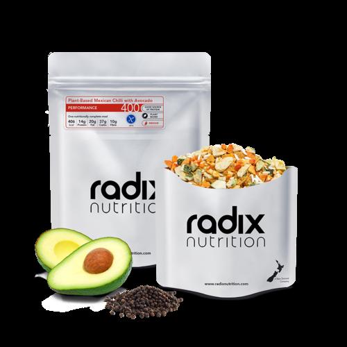 RADIX NUTRITION RADIX NUTRITION PERFORMANCE 400 PLANT-BASED MEXICAN CHILLI WITH AVOCADO