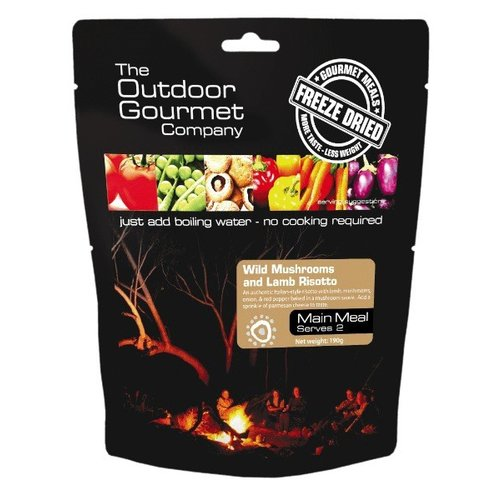BACKCOUNTRY OUTDOOR GOURMET WILD MUSHROOM & LAMB RISOTTO (DOUBLE SERVE)