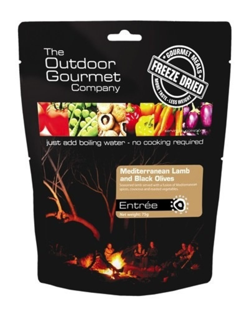 BACKCOUNTRY OUTDOOR GOURMET MEDITERRANEAN LAMB WITH BLACK OLIVES (DOUBLE SERVE)