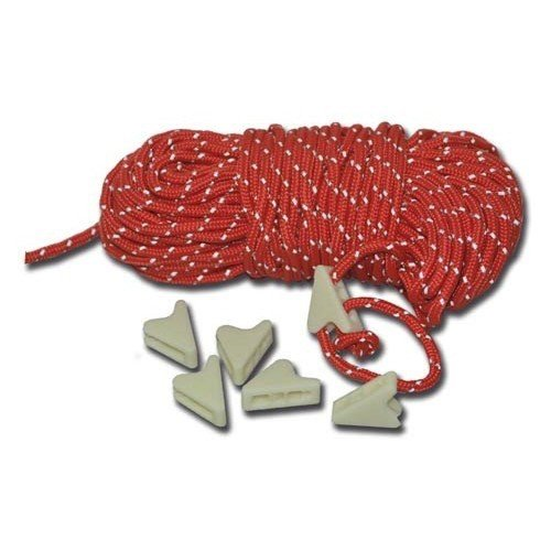 LUXE LUXE GUY ROPE KIT<br /> 15M x 3mm plus 6 Cord Cleats