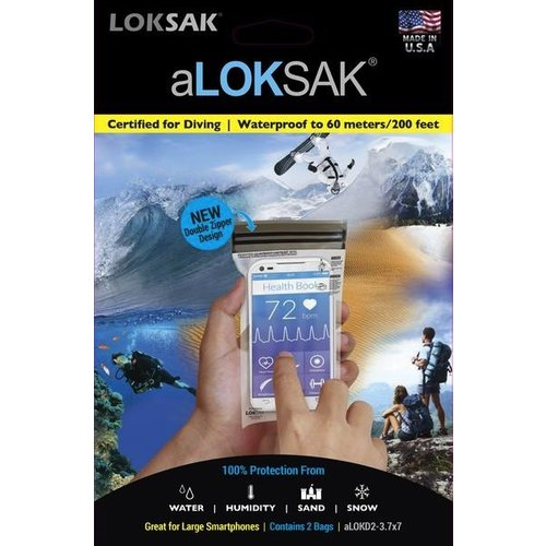 ALOKSAK ALOKSAK WATERPROOF BAG MULTI PACKS SIZE 3.75X7 (2 PACK)