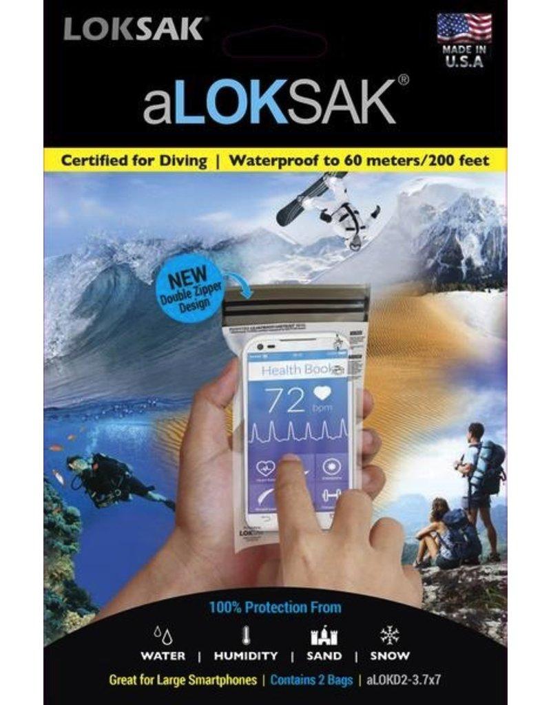 ALOKSAK ALOKSAK WATERPROOF BAG MULTI PACKS SIZE 3.75X7 (2 PACK)