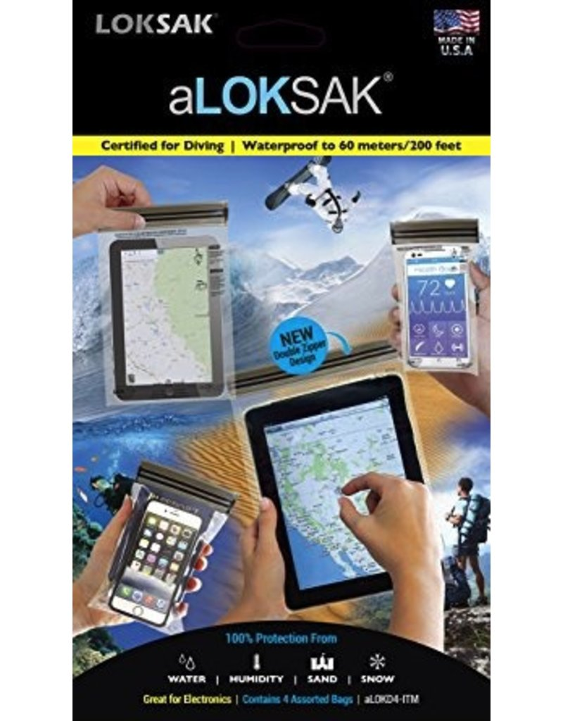 ALOKSAK ALOKSAK WATERPROOF BAG MULTI PACKS SIZE ITM-1EACH OF 3.75X7 4X7 6X9 8X11 (4 TOTAL)