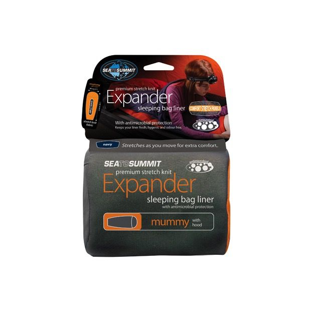 SEA TO SUMMIT SEA TO SUMMIT EXPANDER LINER MUMMY (WITH HOOD)