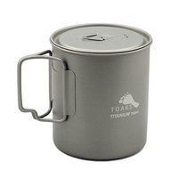 TOAKS TITANIUM POT  WITH LID AND HANDLE 750ML