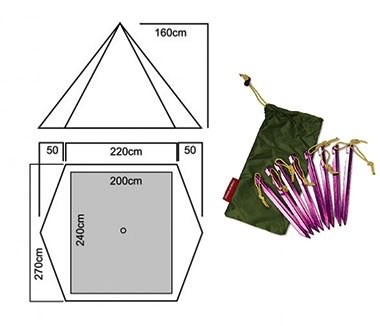 LUXE LUXE TRAILPEAK PYRAMID TENT - Includes 2p inner and pole
