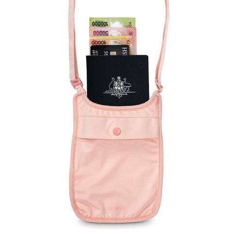 PACSAFE PACSAFE COVERSAFE S75 SECRET NECK POUCH PINK