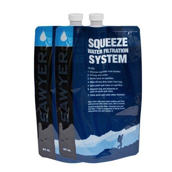 SAWYER SAWYER® 2L 64OZ SQUEEZABLE POUCH-SET OF 2