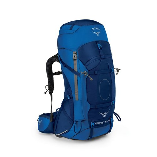 OSPREY OSPREY AETHER AG 70L MEN'S HIKING BACKPACK WITH RAIN COVER