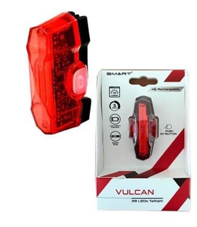 Vulcan Vulcan Rear 30 Lumen USB 28 LED Taillight with Rack Mount