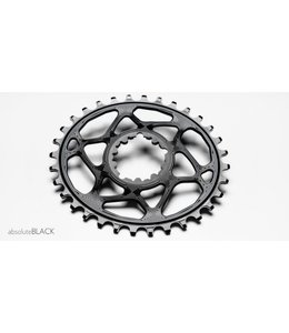 Absolute Black Chainring Oval Black NW Sram GXP 34T