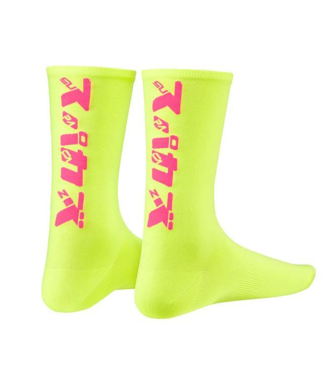 Supacaz Supacaz Socks Katakana Neon Yellow/Pink SM/MED
