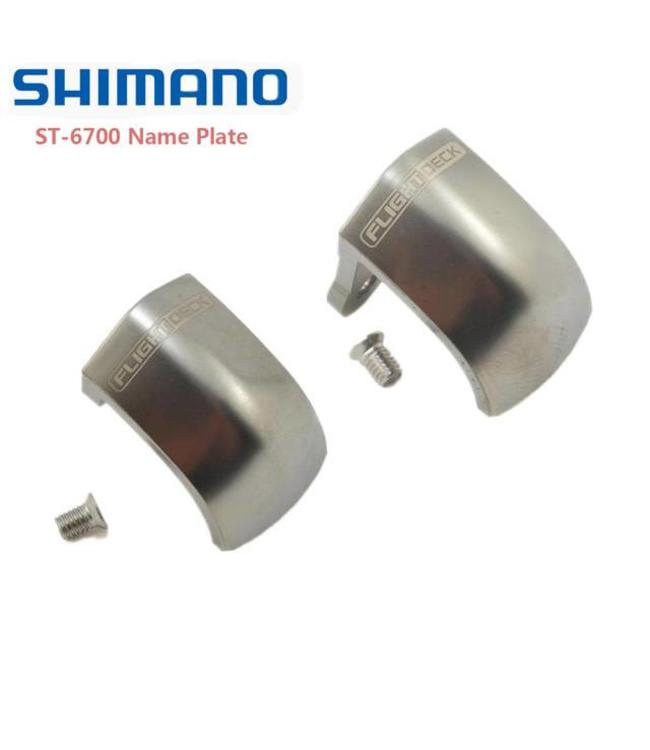 Shimano ST-6700 Right Name Plate w/ Fixing Screws