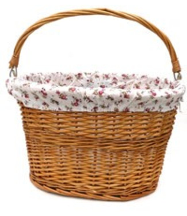 Basket Front Wicker Flower Liner