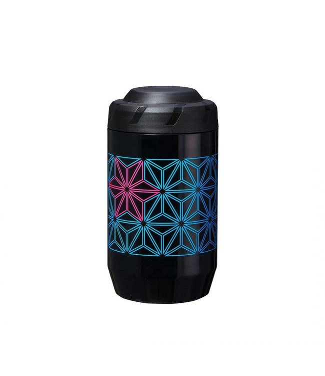 Supacaz Supacaz Bottle Stasher Neon Blue/Pink Width 63mm