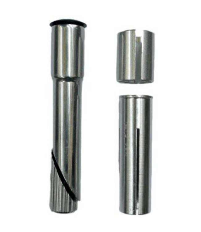 BPW BPW Ahead Stem Quill Converter Adaptor Shim 22.2 25.4 Silver