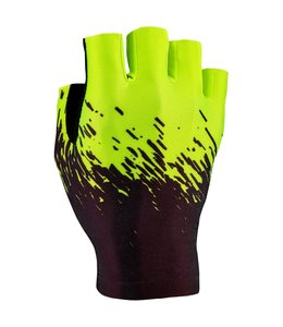 Supacaz Supacaz Gloves SupaG Half Finger Black/Neon Yellow X-Large