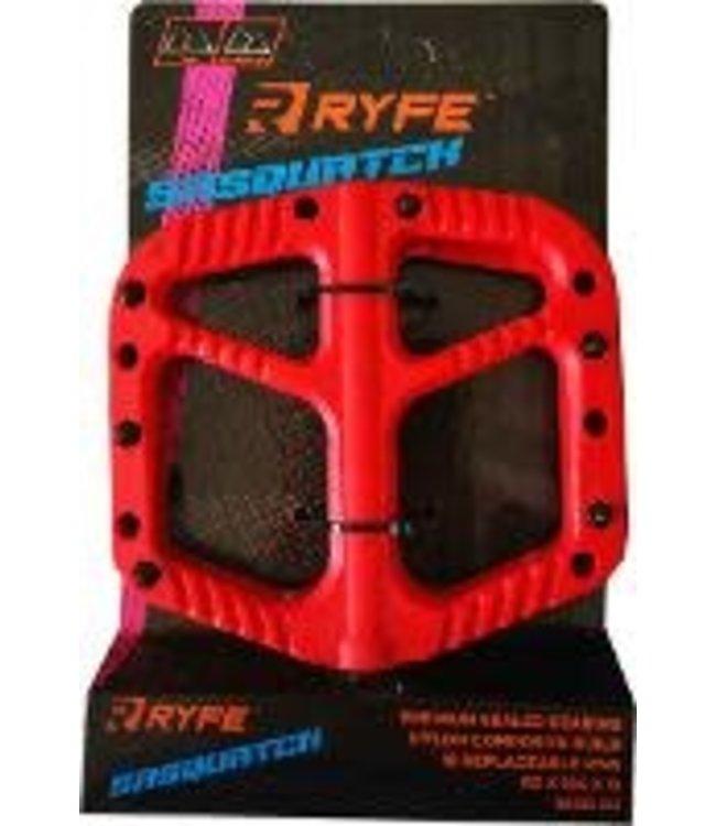 Ryfe Pedals Sasquatch Red