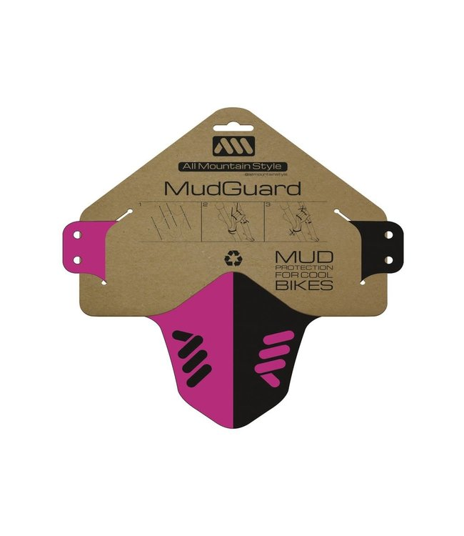 All Mountain Style All Mountain Style Mudguard Magenta / Black