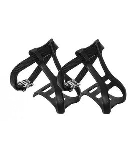 Bike Lane Toe Clips Plastic MTB Black Medium