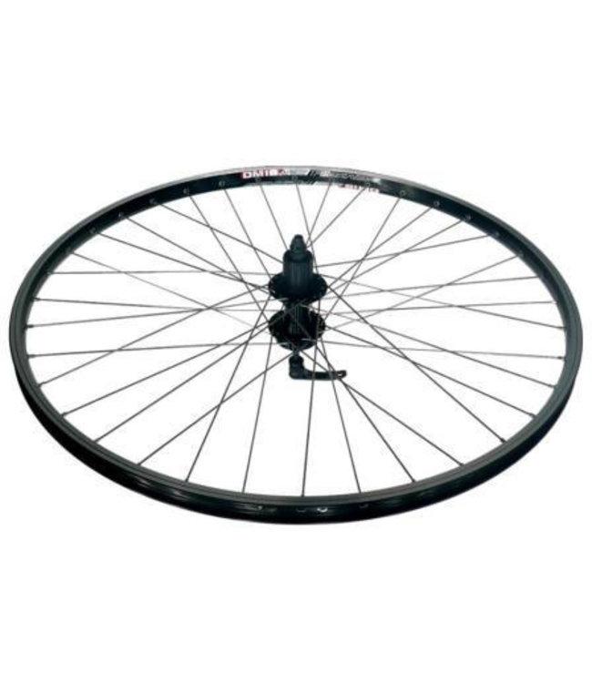 Alex Alex Rims Wheel Rear DM18 JoyTech 8 -10s Disc 6 Bolt Black 700 x 29