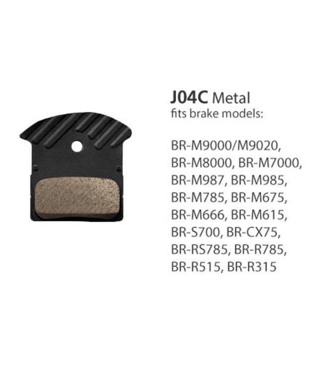 Shimano Shimano Brake Pads BR-M9000 J04C Metal w/fins