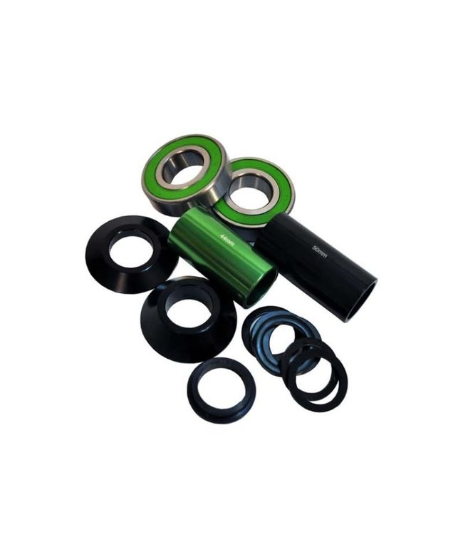 Hi Tech Bottom Bracket Mid - Alloy Black 19mm / 41mm