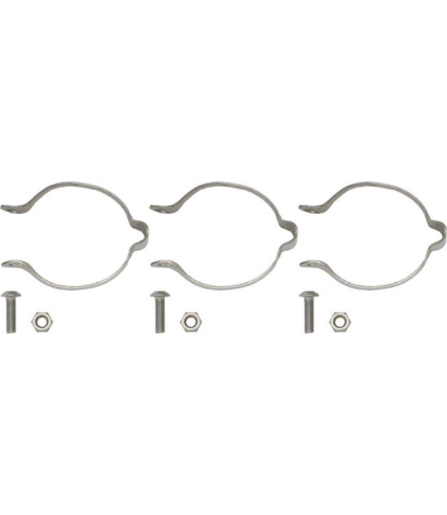 Problem Solvers Problem Solvers Clamp-on Cable Guide Silver Set/3 x 28.6mm