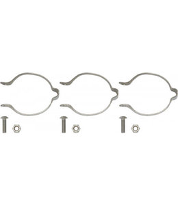 Problem Solvers Problem Solvers Clamp-on Cable Guide Silver Set/ 3 x 31.8mm