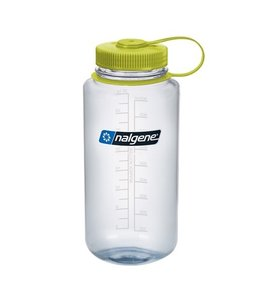 Nalgene Nalgene Bottle Wide Mouth Tritan 1000ml Clear w/Green