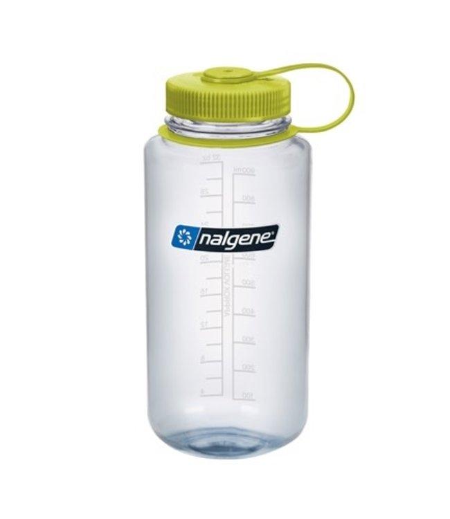 Nalgene Nalgene Bottle Wide Mouth Tritan 1000ml Clear w/Green