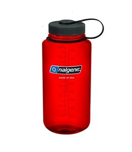 Nalgene Nalgene Bottle Wide Mouth Tritan 1000ml Red w/Black