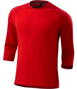 Specialized Specialized Jersey Enduro Drirelease Merino 3/4 Red Heather Large