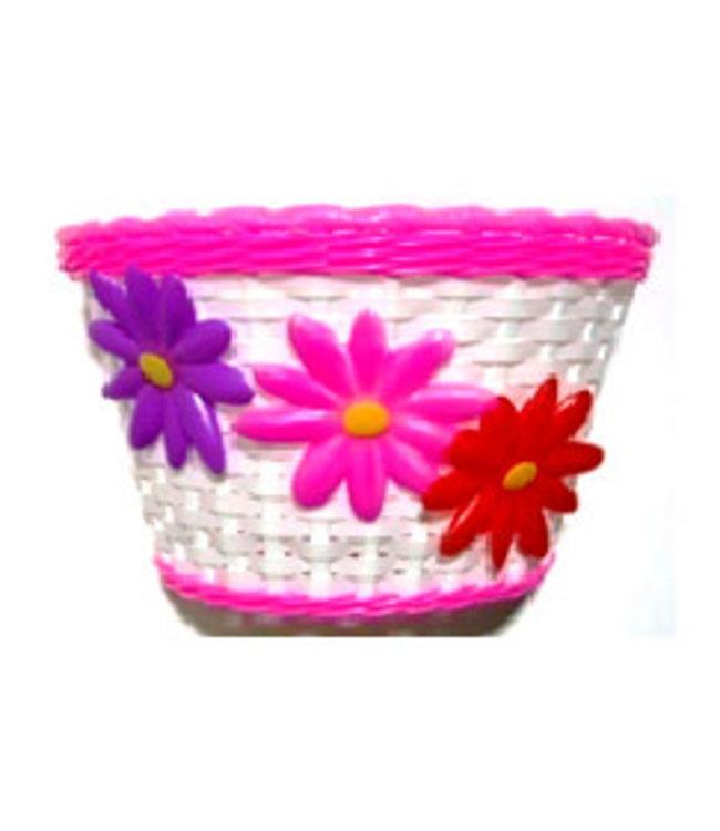 Basket Kids Flower White Pink #1152